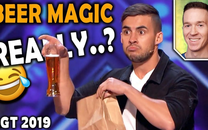 Magician REACTS to Dom Chambers BEER MAGIC on America's Got Talent 2019