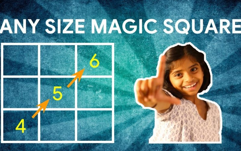 Any Size Magic Square - Simple Three Step Method #LearnWithDiva