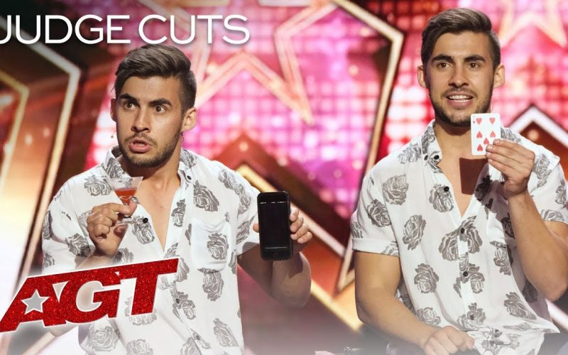 Magician Pours Drink OUT Of Phone?! Dom Chambers Will Blow Your Mind! - America's Got Talent 2019