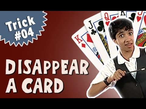 Magic Tricks For Beginners - Learn how to Disappear a Card Trick (English)
