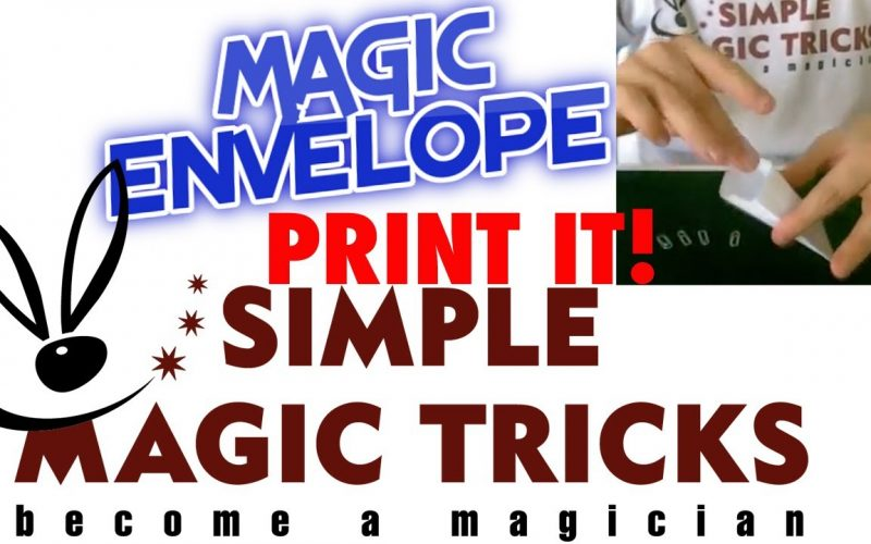 """Simple Magic Tricks - """"Magic Envelope"""" exchange ANY small object - print your template!"""