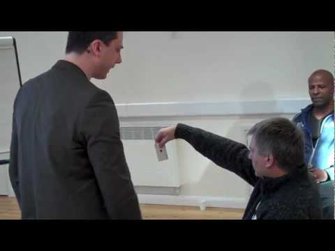 Waking Hypnosis Demonstrated - Name Amnesia, Hand Stick, Chair Stick
