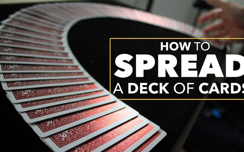 Easy Card Trick to Spread a Deck of Cards on the Table Like a Pro