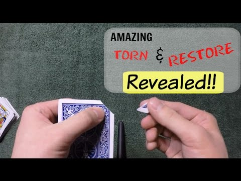 David Blaine's Amazing Torn and Restore Card Trick Revealed!