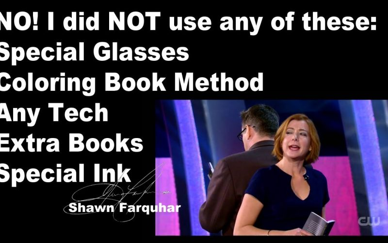 Penn & Teller Fool Us / Shawn Farquhar  NO SPECIAL GLASSES, COLORING or EXTRA BOOK,  SPECIAL INK
