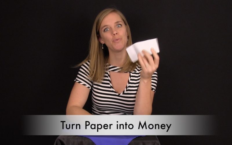 How to Turn Paper into Money