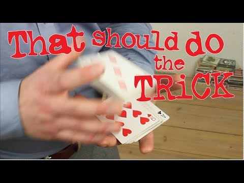 How a magician turns a deck around visual sleight of hand card magic trick!