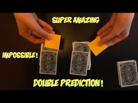 IMPOSSIBLE Double Prediction Card Trick Performance And Tutorial!