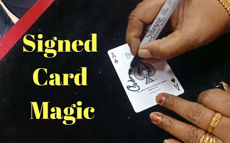 Wow Card magic Signed Card Trick anyone can do || Mohans Magic shop