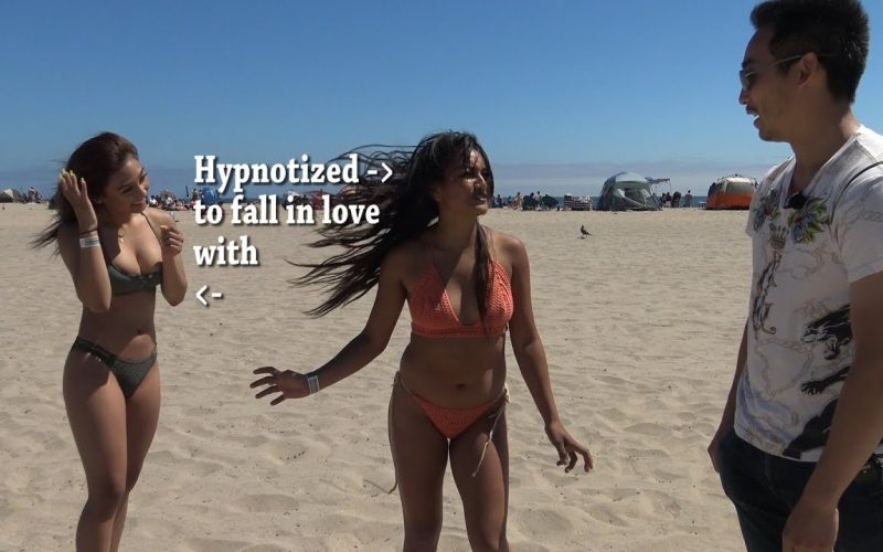 INCREDIBLE BEACH BABE HYPNOTIZED TO LOVE A SEXY HOTTIE! HYPNOGOD IS UNSTOPPABLE!