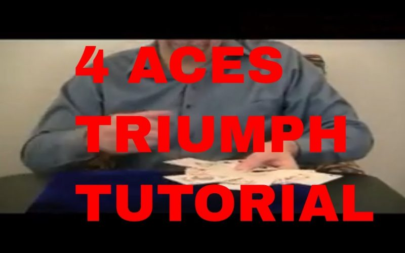 Free Magic Tricks: 4 ACES Triumph Tutorial