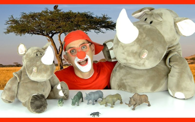 Bom the Clown - Magic Tricks for Kids to guess Who is the BIG Rhinoceros?